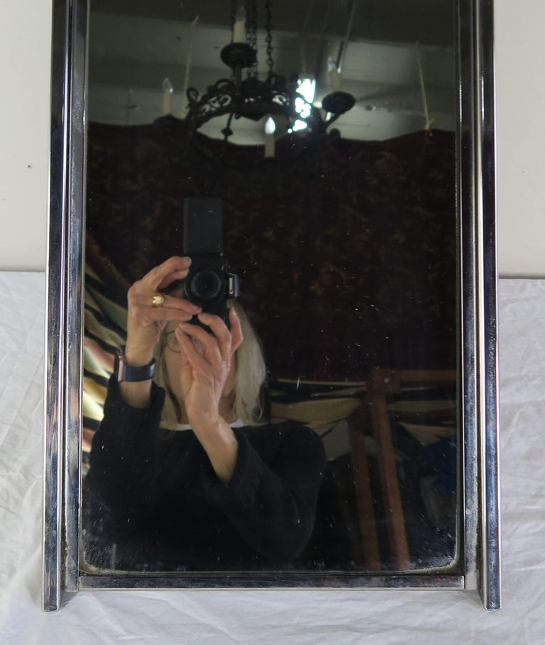 Chrome-Plated Vanity Mirror, circa 1960 For Sale 2