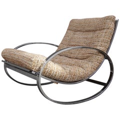 Chrome Rocking Chair by Selig