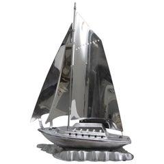 Chrome Sailboat Lamp