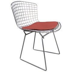 Chrome Side Chair by Harry Bertoia for Knoll