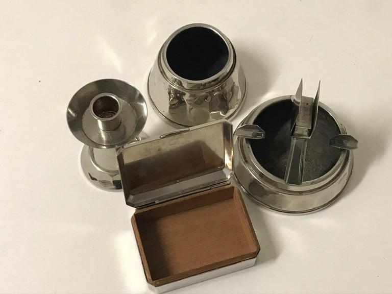 Polished Chrome Smoking set Art Deco