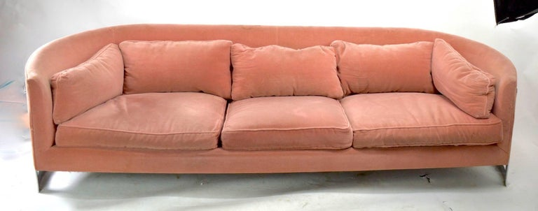 Chrome Strap Sofa Attributed to Milo Baughman In Good Condition For Sale In New York, NY