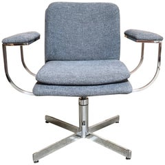 Chrome Swivel Desk Chair by Fortress