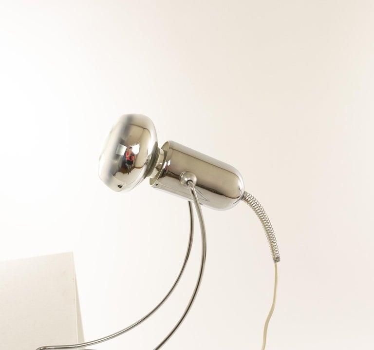 Italian Chrome Table Lamp by Francesco Fois for Reggiani, 1960s For Sale