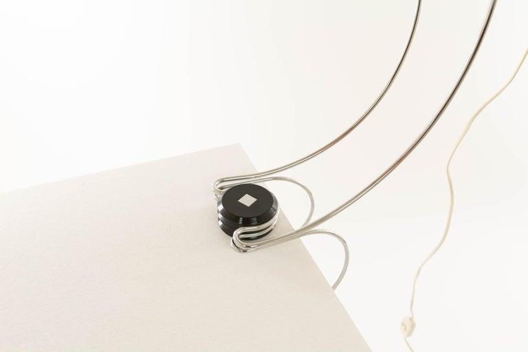 Polychromed Chrome Table Lamp by Francesco Fois for Reggiani, 1960s For Sale