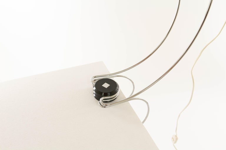 Chrome Table Lamp by Francesco Fois for Reggiani, 1960s In Good Condition For Sale In Rotterdam, NL
