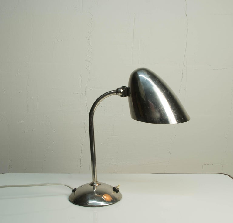 Bauhaus Chrome Table Lamp by Franta Anyz, 1930s For Sale