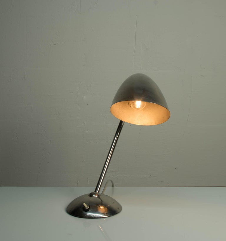 Chrome Table Lamp by Franta Anyz, 1930s In Good Condition For Sale In Praha, CZ