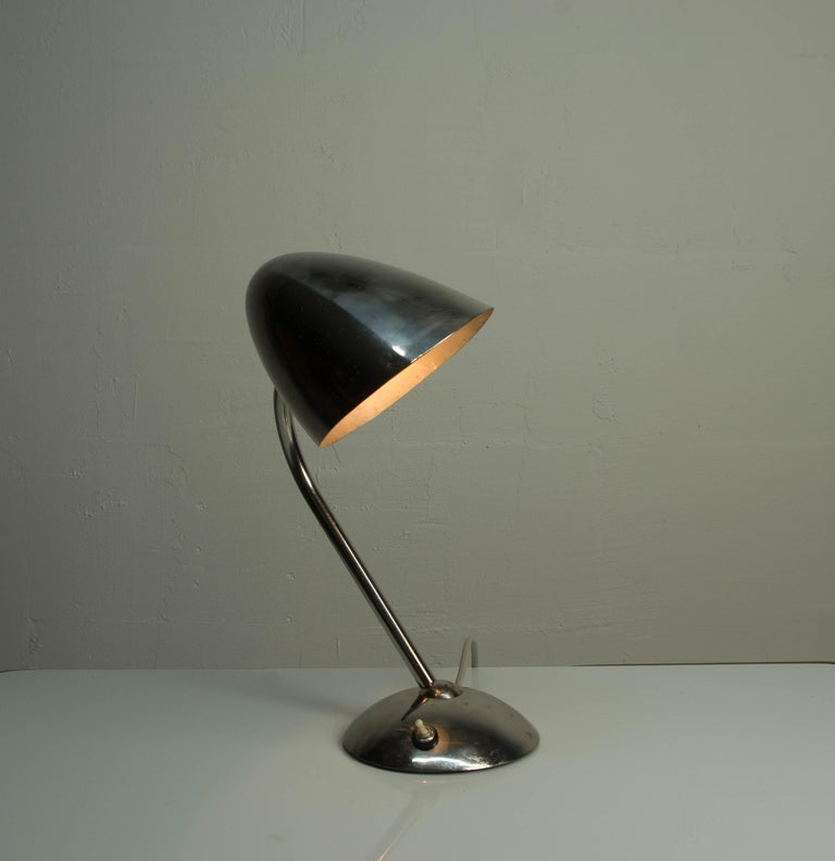 Mid-20th Century Chrome Table Lamp by Franta Anyz, 1930s For Sale