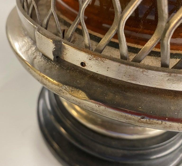 Chrome Top Nautical Ship's Lantern Converted Table Lamp, circa 1930s For Sale 1