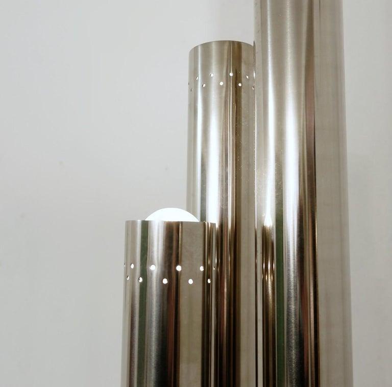 Late 20th Century Chrome Tubes Floor Lamp, 1970s For Sale