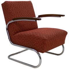 Chrome Tubular Armchair Type S 411 by Mücke Melder, 1930s