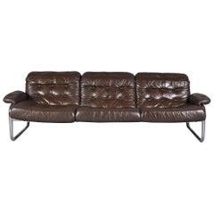 Chrome Tubular Framed Three-Seat Sofa by Johann Bertil Häggström for Ikea Sweden