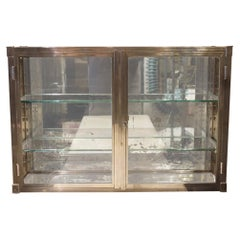 Chrome Wall Display Cabinet