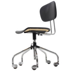 Chrome Wheel Office Chair