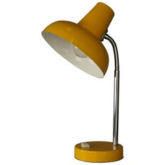 Chromed and Yellow Lacquered Metal Articulated Lamp