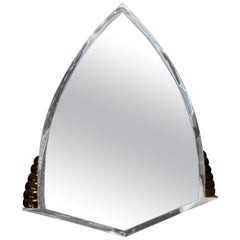 Chromed Art Deco Wall Mirror from Italy, 1920s