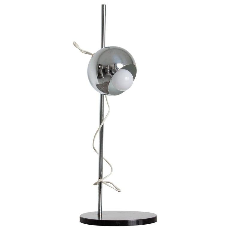 Chromed Magnetic Head Reggiani Table Lamp For Sale