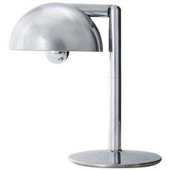 Chromed Metal Table Lamp by Adalberto Dal Lago