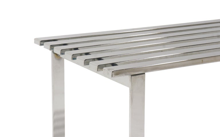 Late 20th Century Chromed Steel Bench by Milo Baughman For Sale