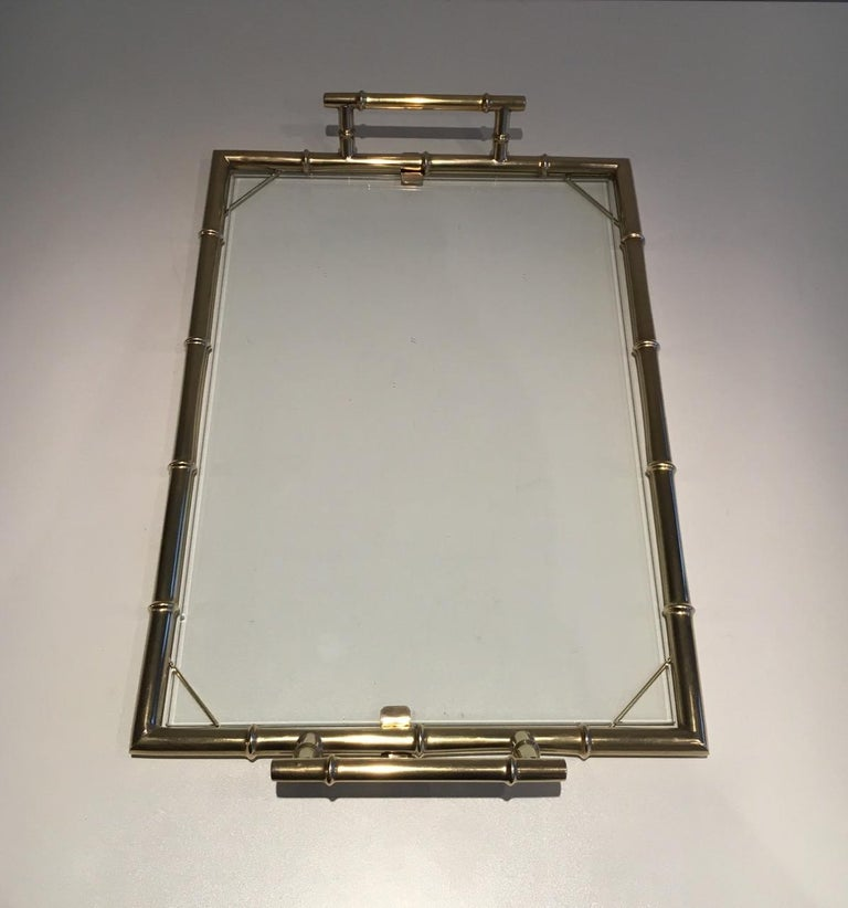 Mid-Century Modern Chromed Tray, circa 1970 For Sale