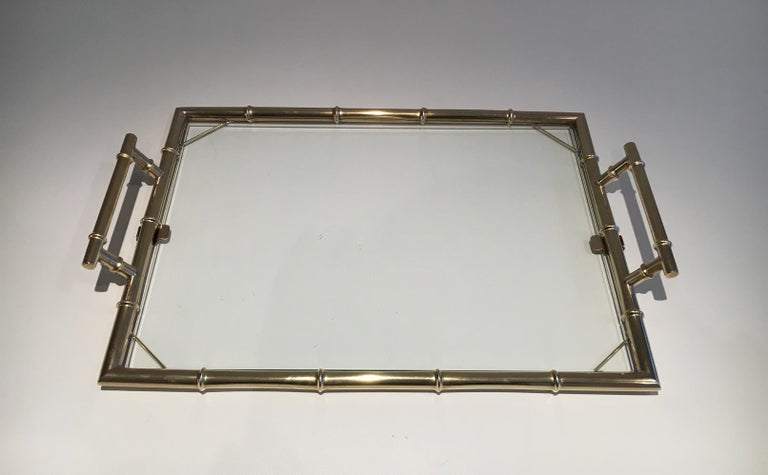 French Chromed Tray, circa 1970 For Sale