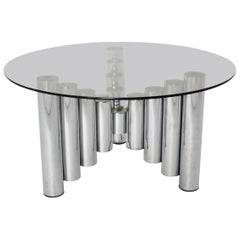 Chromed Tube Coffee Table Manhattan, 1960s