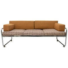 Chromium Plated Bauhaus Sofa by Robert Slezák, 1930s