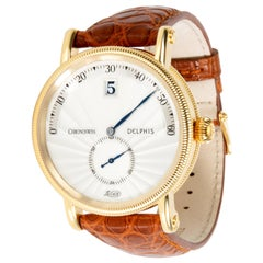 Chronoswiss Delphi Jump Hour CH1421 Men's Watch in 18 Karat Yellow Gold