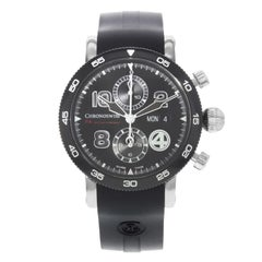 Chronoswiss Timemaster Black Dial Rubber Chrono Automatic Men Watch CH-8645/71-2