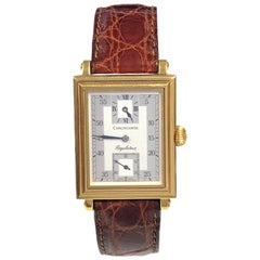 Chronoswiss Yellow Gold Rectangulaire Regulator Mechanical Wrist Watch