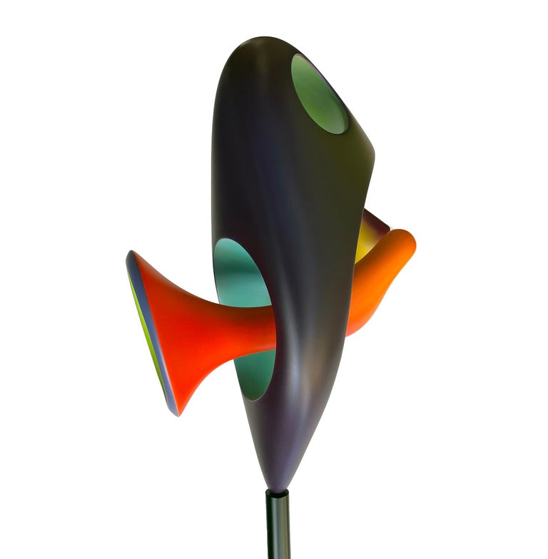Chrysalis, Abstract Sculpture, Brightly Colored Intertwined Geometric Form In New Condition For Sale In Chicago, IL