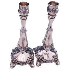 Chrysanthemum by Tiffany & Co. Sterling Silver Candlestick Pair #16580