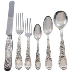 Chrysanthemum by Tiffany Sterling Silver Flatware Set 12 Service 66 Pcs Dinner