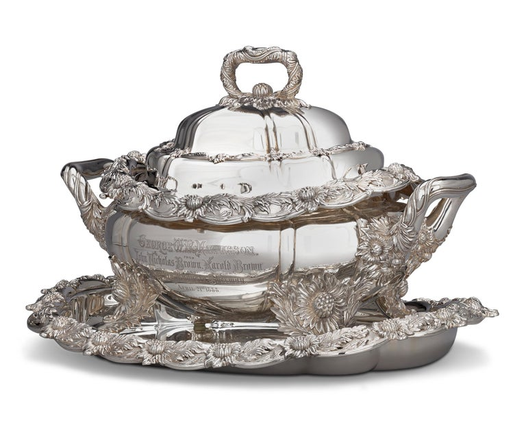 Art Nouveau Chrysanthemum Covered Soup Tureen by Tiffany & Co. For Sale