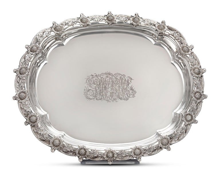 19th Century Chrysanthemum Covered Soup Tureen by Tiffany & Co. For Sale
