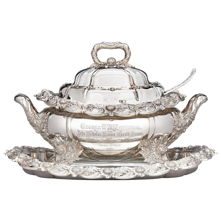 Chrysanthemum Covered Soup Tureen by Tiffany & Co. For Sale