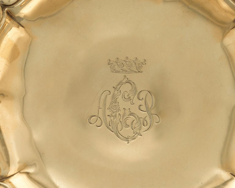 American Chrysanthemum Silver Gilt Tazze by Tiffany & Co. For Sale