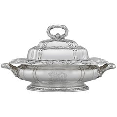Chrysanthemum Sterling Silver Serving Dish by Tiffany & Co.
