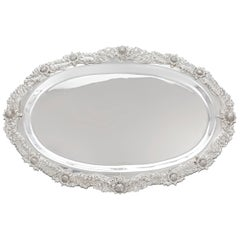 Chrysanthemum Sterling Silver Serving Tray by Tiffany & Co.