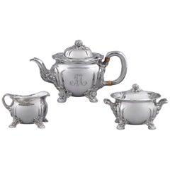 Chrysanthemum Sterling Silver Tea Set by Tiffany & Co.