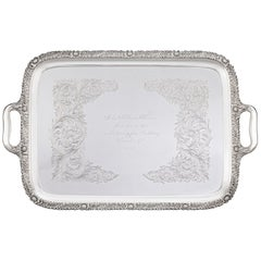 Chrysanthemum Sterling Silver Tea Tray by Tiffany & Co.
