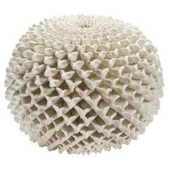 Chrysanthemum Vessel, a Unique Porcelain Sculptural Vessel by Vanessa Hogge