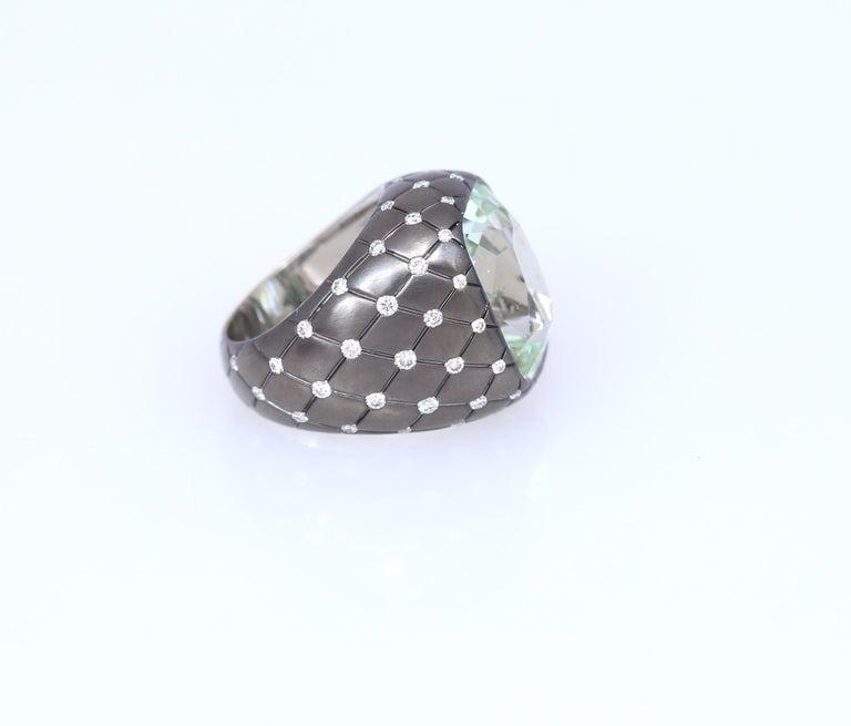 Oval Cut Chrysoberyl Alexandrite Diamond Gold Ring, 1990 For Sale