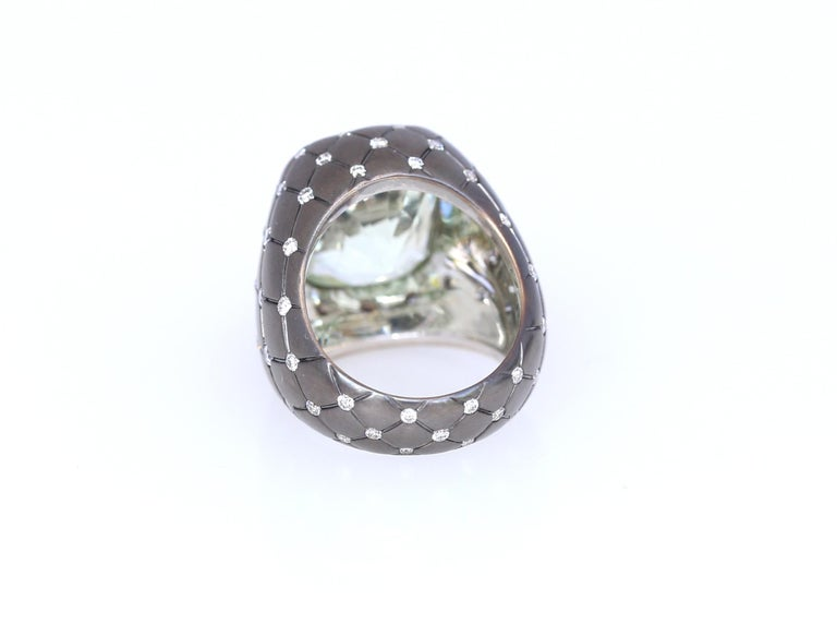 Chrysoberyl Alexandrite Diamond Gold Ring, 1990 In Good Condition For Sale In Herzelia, IL