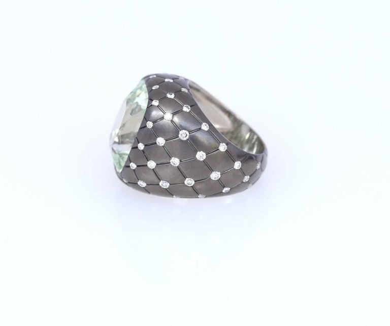 Women's Chrysoberyl Alexandrite Diamond Gold Ring, 1990 For Sale