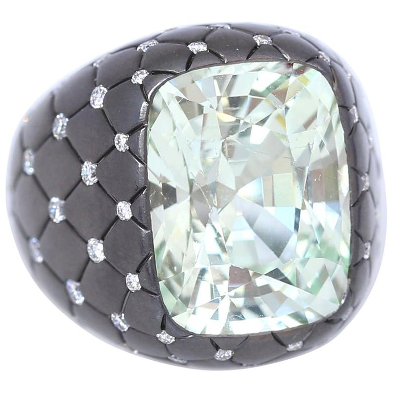 Chrysoberyl Alexandrite Diamond Gold Ring, 1990 For Sale