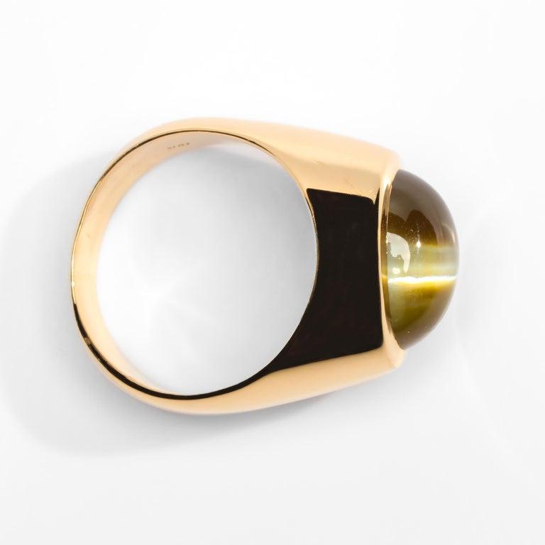 Chrysoberyl Cat's Eye Ring 12.5 Carat 1