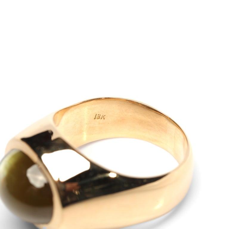 Chrysoberyl Cat's Eye Ring 12.5 Carat 2