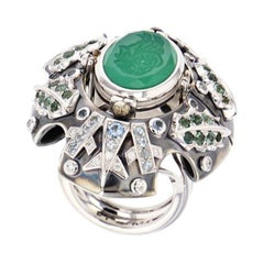 Chrysophrase Eau D'Hiver Ring by Elie Top